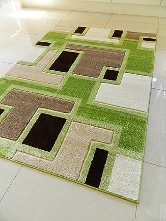 RUGS 4 HOME New Klein Medium XX groß Modern grün Braun Beige ...