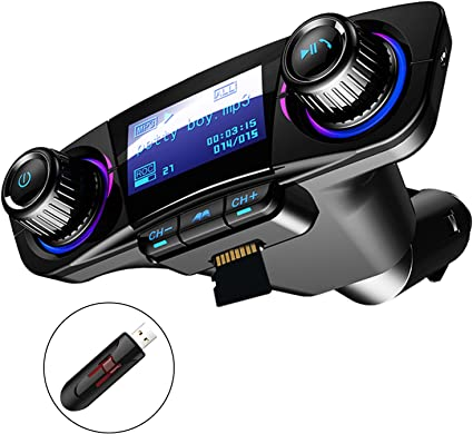 Bluetooth Wireless FM Transmitter Handsfree 12V Car Kit USB TF Card For Vehicle