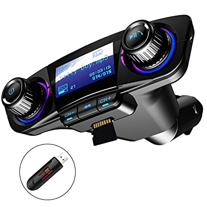 amazon com bluetooth fm transmitter car mp3 player hands free carbluetooth fm transmitter car mp3 player hands free car kit wireless radio audio adapter with