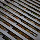 StarSun Depot 8-Ft Metal Garden Bridge in Weathered Black Finish - 750-lb Weight Capacity