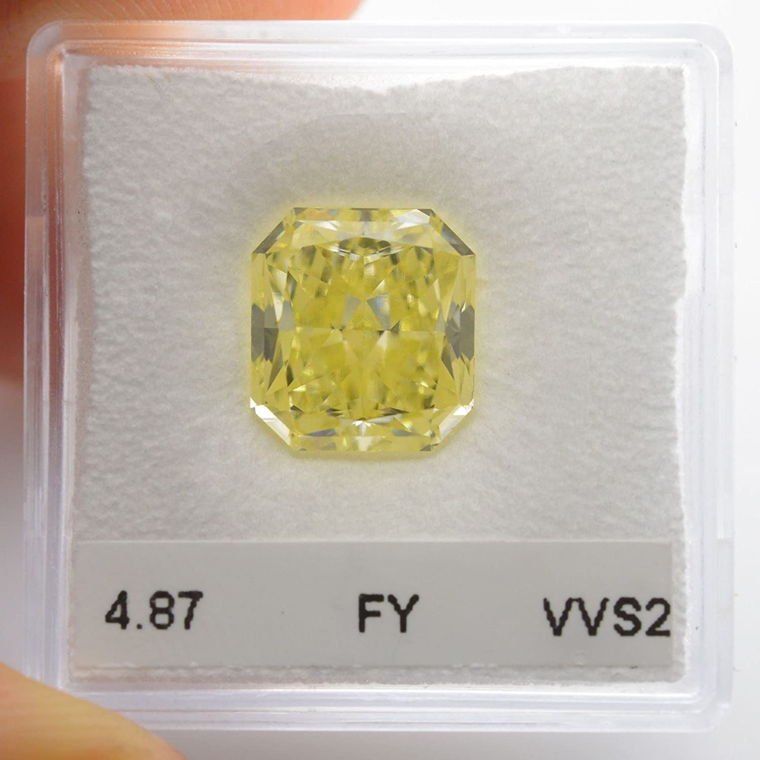 Amazon 4 87Cts Fancy Yellow Loose Diamond Natural Color Radiant