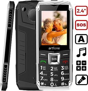 artfone C3 Senior, Teléfonos Móviles para Mayores con Teclas ...