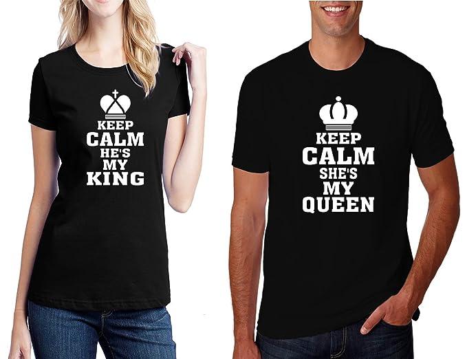 570d95dfa5 Hot Ass Tees Keep Calm He's My King & Keep Calm He's My Queen Matching T