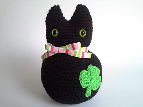 Amigurumi Halloween Black Cat Free Crochet Pattern | Halloween ... | 375x500
