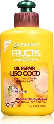 Garnier Fructis Crema para Peinar Oil Repair Liso Coco, 300 ml