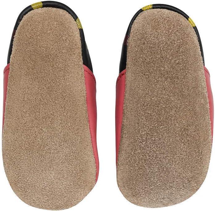 Chaussures /à Semelle antid/érapante Chaussures b/éb/é Semelle Daim 16//17 0-6 Mois, Renard Chaussons de Marche Quatre Pattes Chaussons Cuir Souple 0-24 Mois