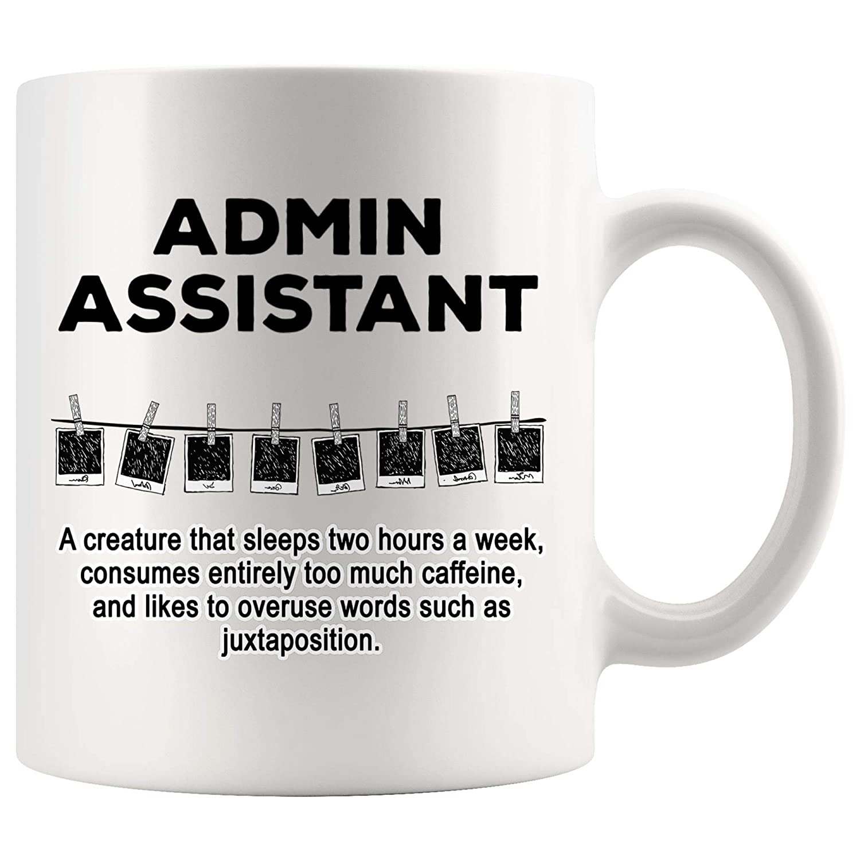 Amazon.com: Admin Assistant Mug Coffee Sarcasm Cup - Funny ...