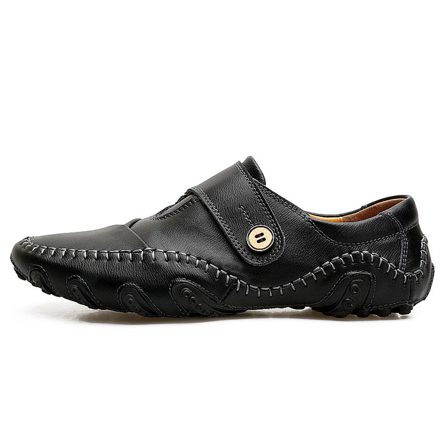 Amazon.com | Men Loafers Leather Casual Luxury Genuine Leather Men Falts Shoes Mocasines | Loafers & Slip-Ons