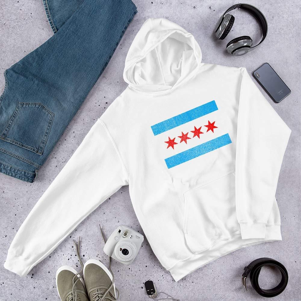 Deedle Bee Chicago Flag Hooded Sweatshirt