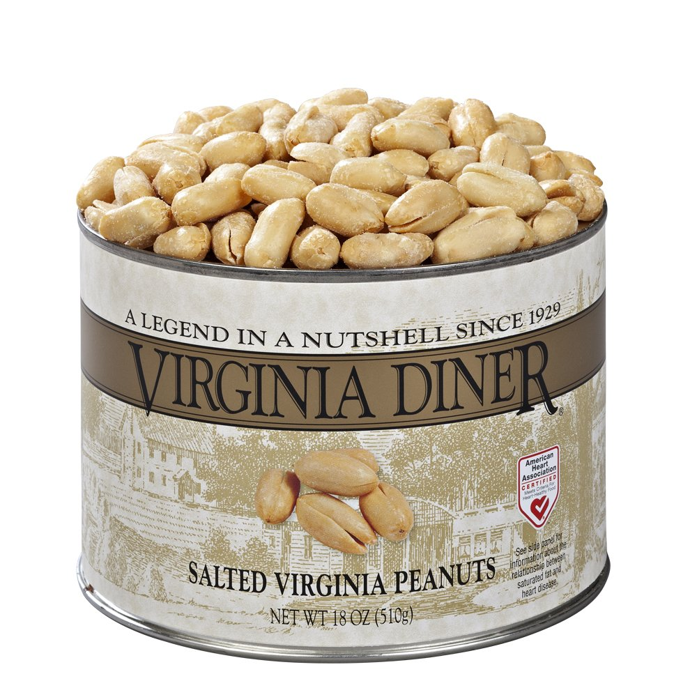 Virginia Diner Virginia Peanuts, Salted, 18-Ounce