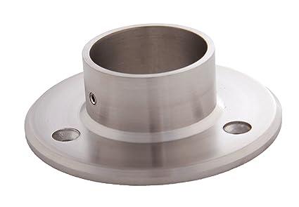 Edelstahldiscounter S014108 - Soporte de pared para tubo (acero, diámetro: 42,4