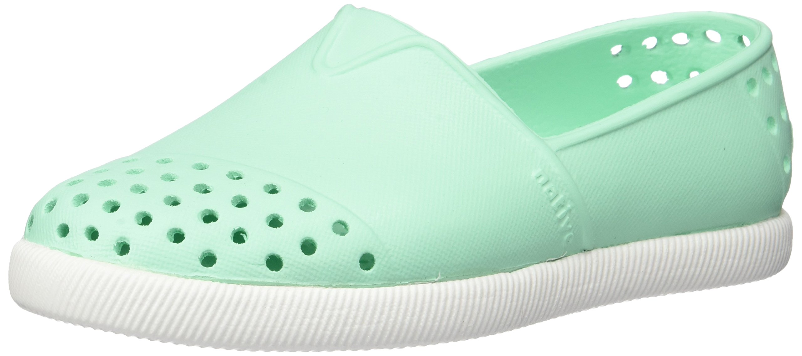 native Kids Kids' Verona Slip-on, Glass Green/Shell White, 5 M US Toddler