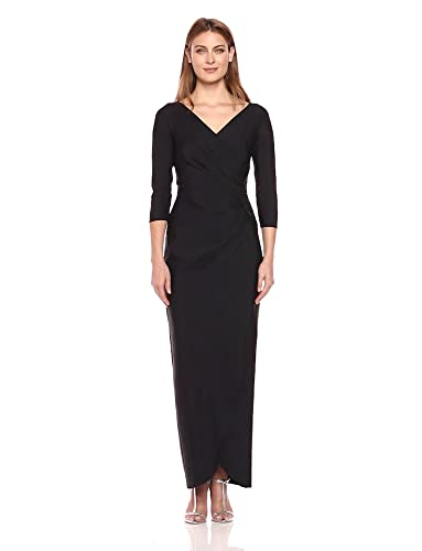 a0e125980f865 Alex Evenings Women s Long Side Ruched Dress with Embellishment at Hip at  Amazon Women s Clothing store