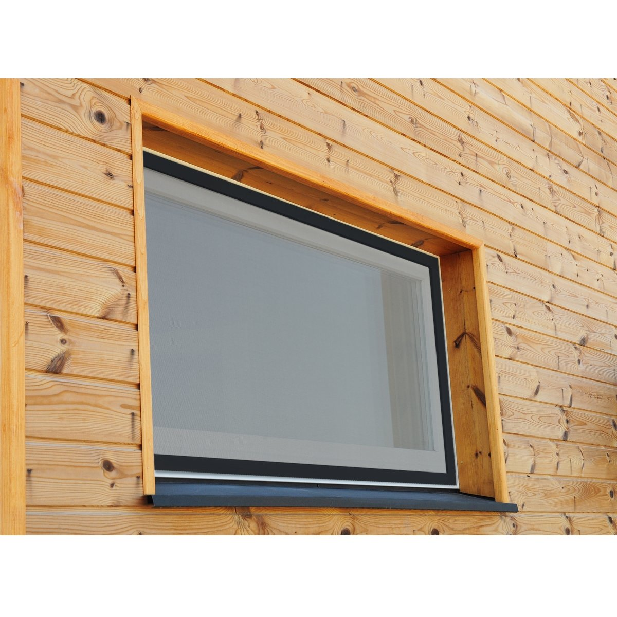 ECD Germany Mosquitera Ventanas 100x 120 cm Resistente a la Intemperie con Tela de Fibra de Vidrio y Marco de Aluminio Color Antracita