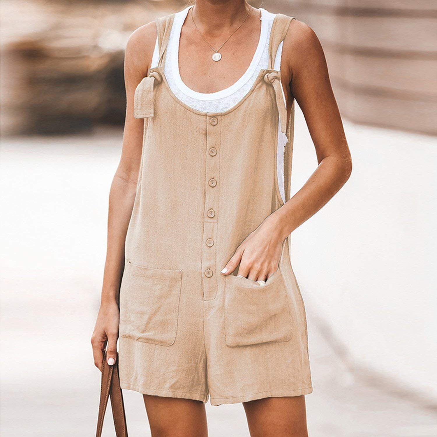 ADOMIFL Women Rompers Solid Jumpsuit Summer Short Jumpsuit Female Wrapped Strapless