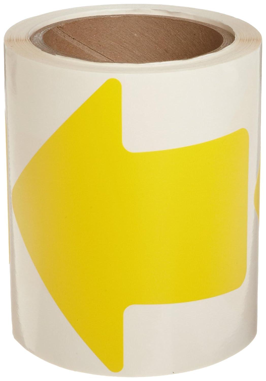 Brady Nonabrasive Arrow Shape Floor Marking Tape, 4' Width, Yellow (Pack of 100 Per Roll) 4 Width Brady Corporation 121048