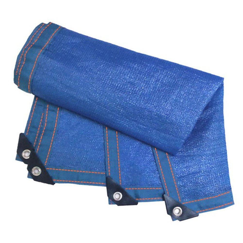 DYFYMXUV Ombra Rete Ombrellone Netto, criptazione ombrellone Solare Protezione Solare Rete da Giardino schermatura Isolamento Rete 8 Pin 90% Tasso di ombreggiatura (colore   Blu, Dimensioni   6x8m)