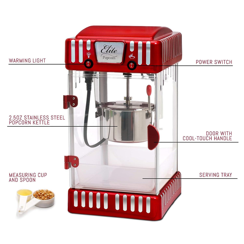 Elite Popcorn Machine Wiring Diagrams Data Diagram Schema Espresso Amazon Com Maxi Matic Epm 250 Tabletop Kettle Popper Switch