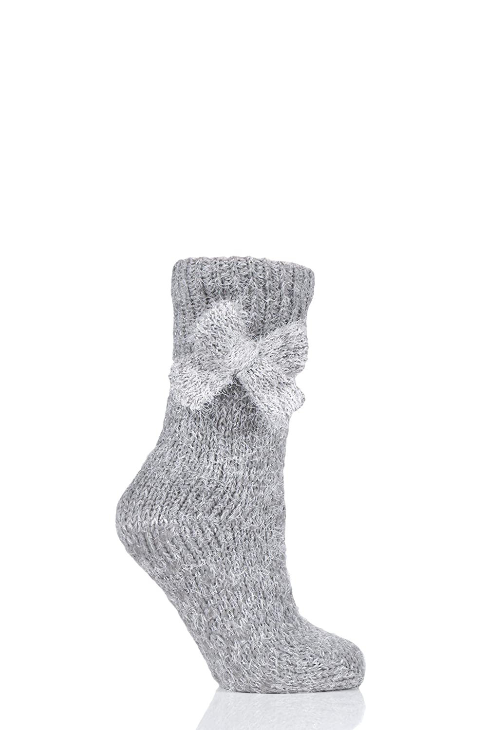 Totes Women Bow Sparkle Chunk Knit Socks Pack of 1