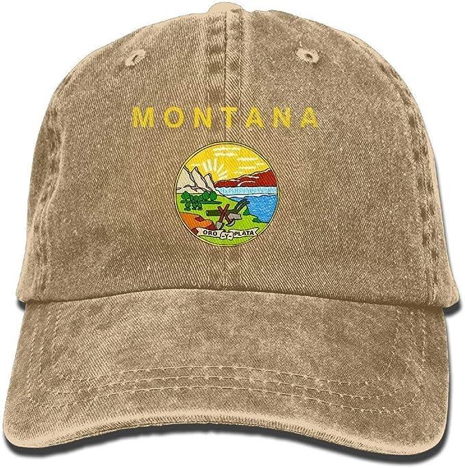 Unisex Montana Flag Elegante Denim Mujer Béisbol para para Fashion ...