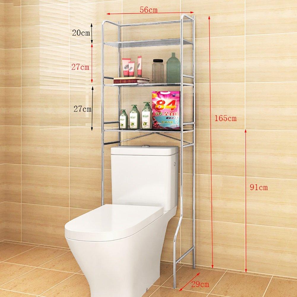 Trois couches Étagère de toilette Ensemble de lavabo Salle de bain Rangement Étagère Machine à laver Étagère avec