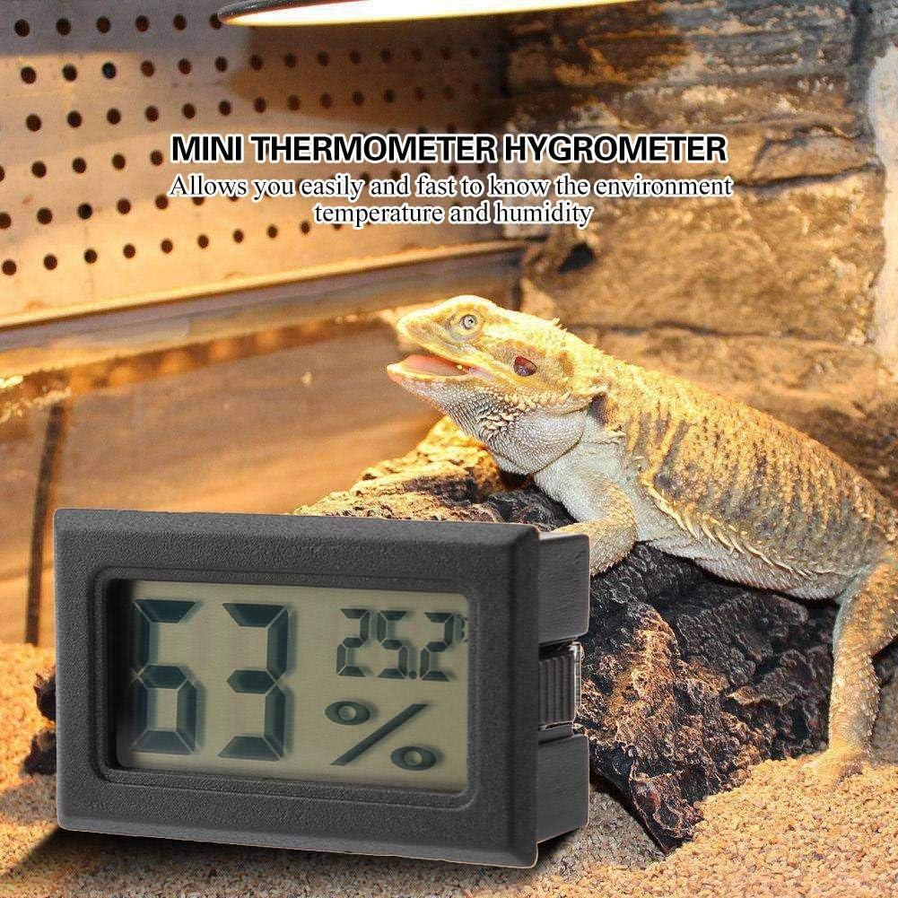 Garosa Medidor De Temperatura R/ápido con Monitor Incorporado De Humedad Preciso y Term/ómetro De Higr/ómetro Digital Integrado con Sonda Incorporada Negro