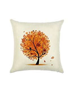 Luxsea Linen Cloth Printed Pillow Case Cover Throw Sofa Cushion Cover Home Decoration