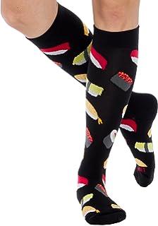 1ae2ef3e7 Fun Running Compression Socks - Graduated 15-25mmHG Colorful Knee High  Sport Socks for Men