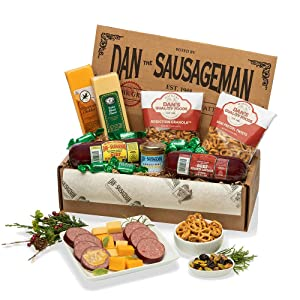 Dan the Sausageman's Mt. Rainier Gourmet Gift Basket -Featuring Dan's Summer Sausage, Wisconsin Cheeses, Dan's Sweet Hot Mustard and Seattle Truffles