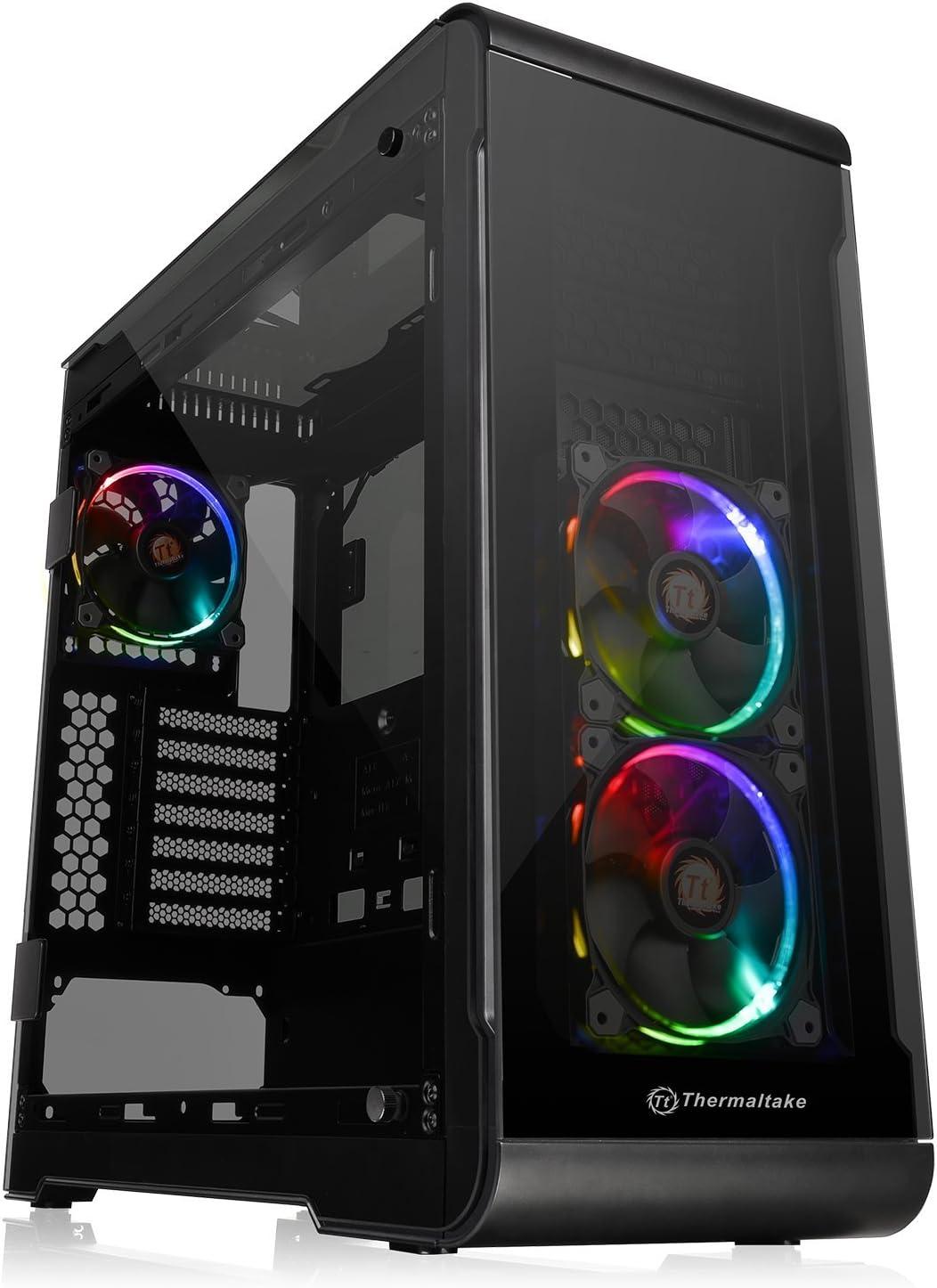 Thermaltake View 32 TG RGB - Carcasa de PC (Midi-Tower, E-ATX, Gaming, Modding, LCS) Color Negro: Amazon.es: Informática