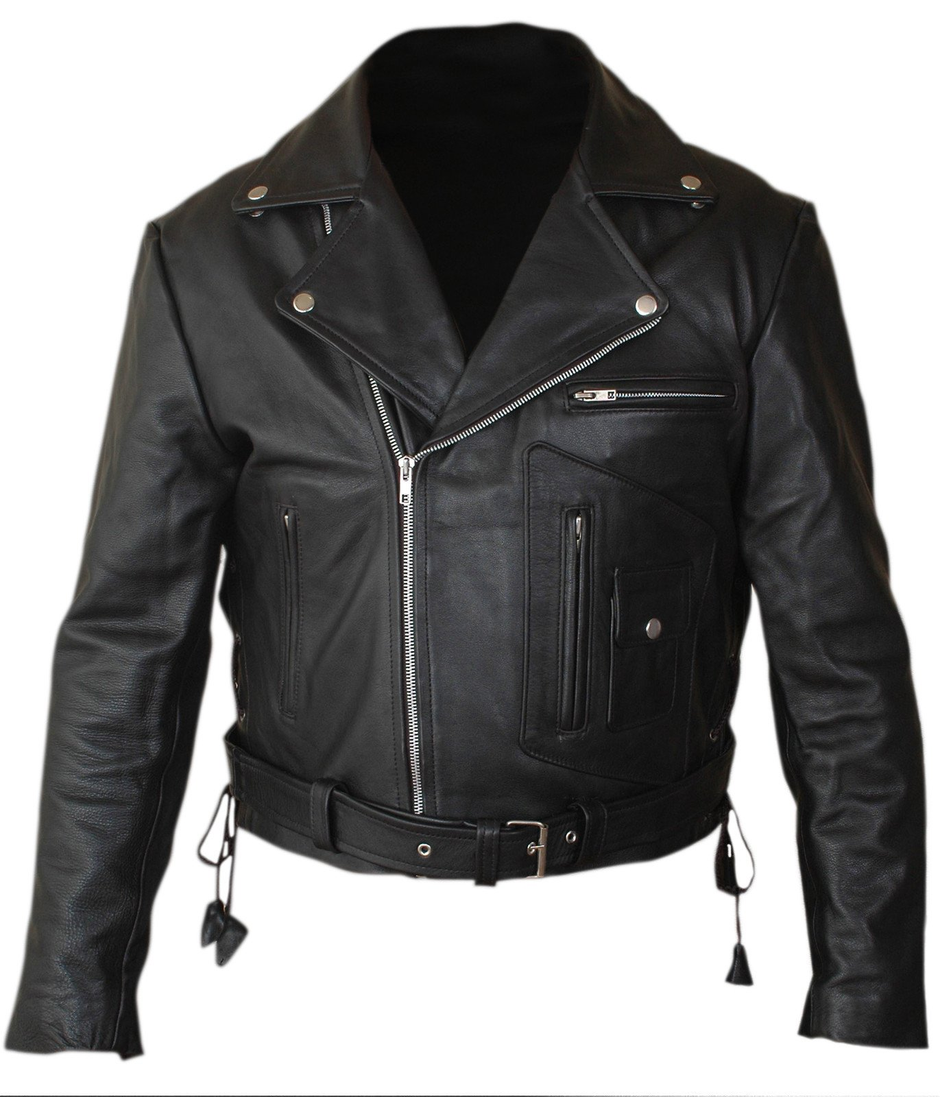 Flesh & Hide F&H Boy's Terminator 2 Judgment Day Arnold Genuine Leather Jacket S Black