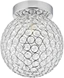 Haysoms Modern Round and Ip44 Rated Bathroom Ceiling Light, Metal, Polished Chrome