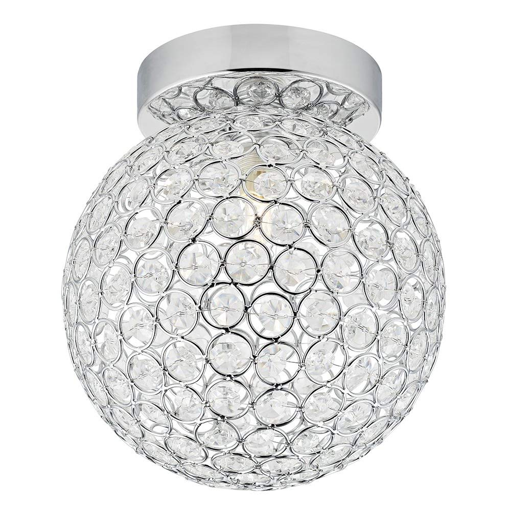 Haysoms Modern Round and Ip44 Rated Bathroom Ceiling Light, Metal, Polished Chrome HA5511-1CC