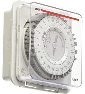vemer vp886600 Tiempo Interruptor electromecánico Napa RD, Panel, Gris Claro