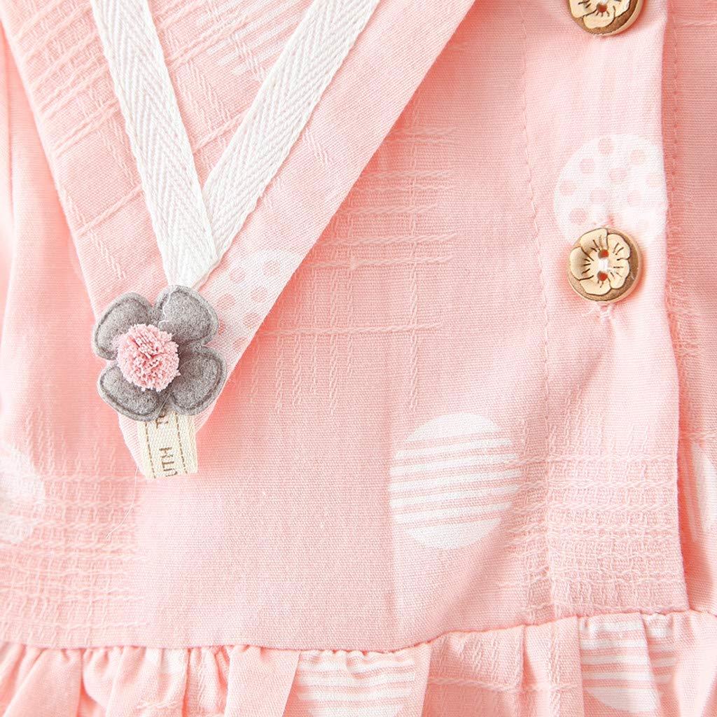 0-6Mois Mamum B/éb/é Filles Robe de Filles Robe B/éb/é Gar/çon Fille Enfants /à Manches Longues Robe Imprim/é fleur Blanc, 6 Ensembles de B/éb/é Filles