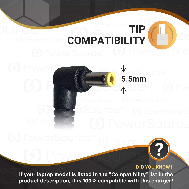 PowerSource 65W 45W UL Listed Extra Long 14Ft AC Adapter-Charger for Acer-Aspire-E15 N15Q1 E5 E5-575 E5-521 R3 R3-471 Aspire 5 V5 V3 R7 M5 S3 E1 ES1 ...