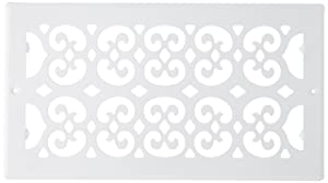 Decor Grates S612R-WH 6-Inch by 12-Inch Painted Return Air, White