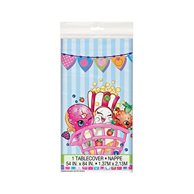 "Shopkins Plastic Tablecloth, 84"" x 54"": Toys & Games"