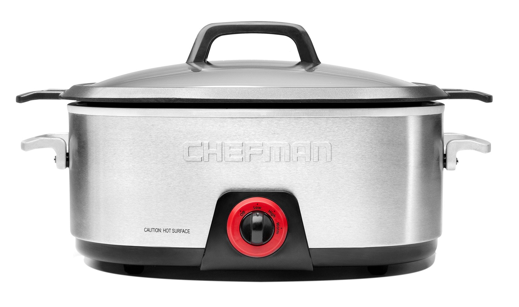 Chefman, Slow Cooker with Die-Cast Insert, Stainless Steel