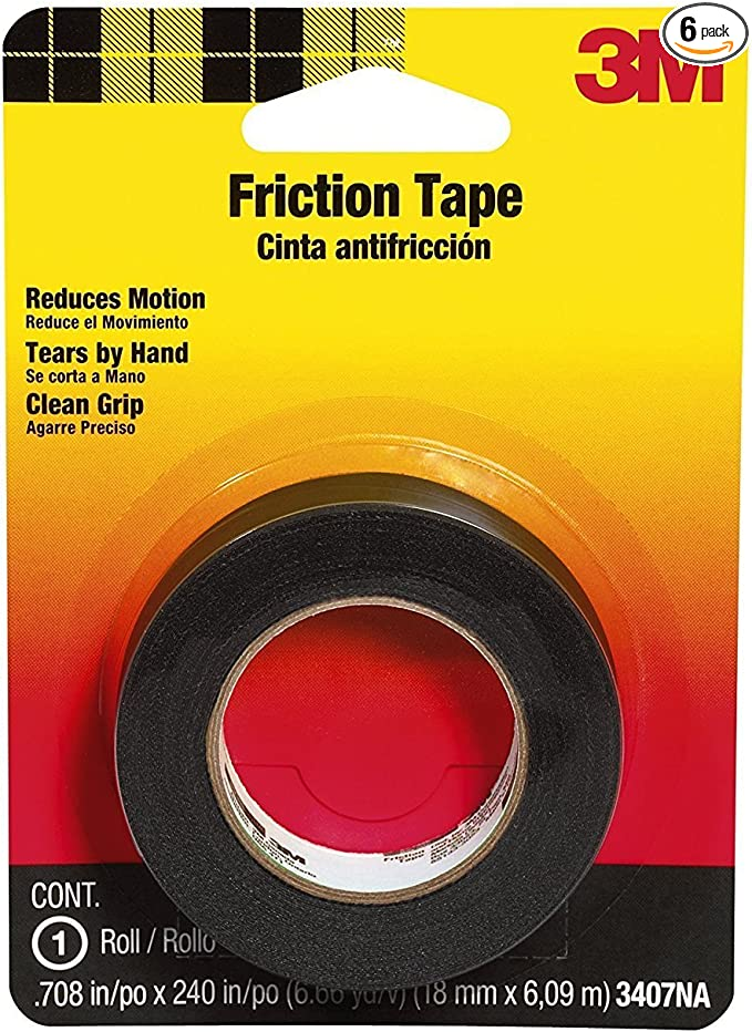 Duck Brand 394644 Friction Tape 3//4-Inch by 30 Feet Single Roll Black