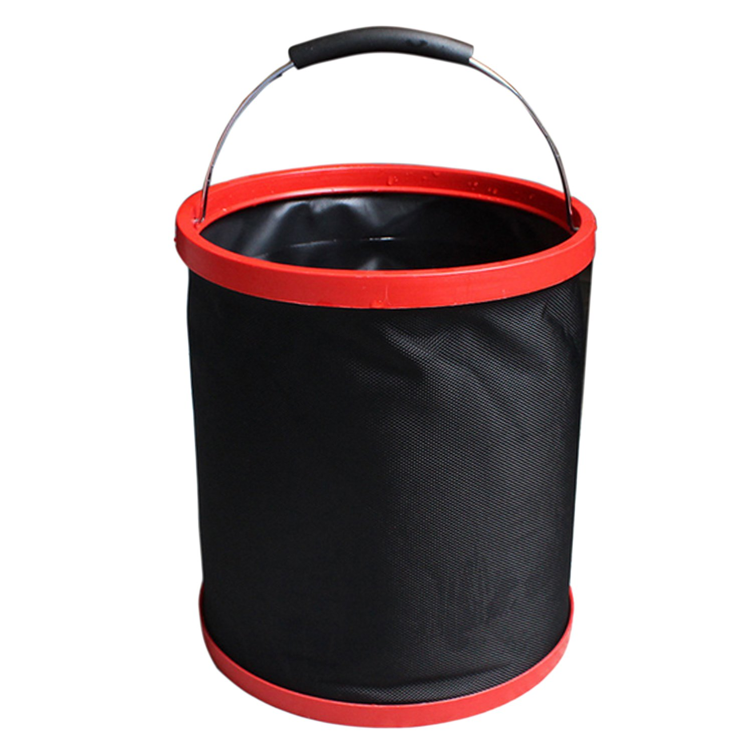 Sopear Portable 12L Multifuctional Collapsible Folding Bucket Water Carrier No Leakage for Beach Travel Camping Fishing Car Washing