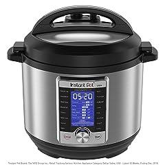 Instant Pot Ultra 10-in-1 Electric Pressure Cooker Slow Cooker Rice Cooker Steamer Saute Yogurt Maker Cake Maker Egg Cooker Sterilizer and Warmer 6 Quart 16 One-Touch Programs