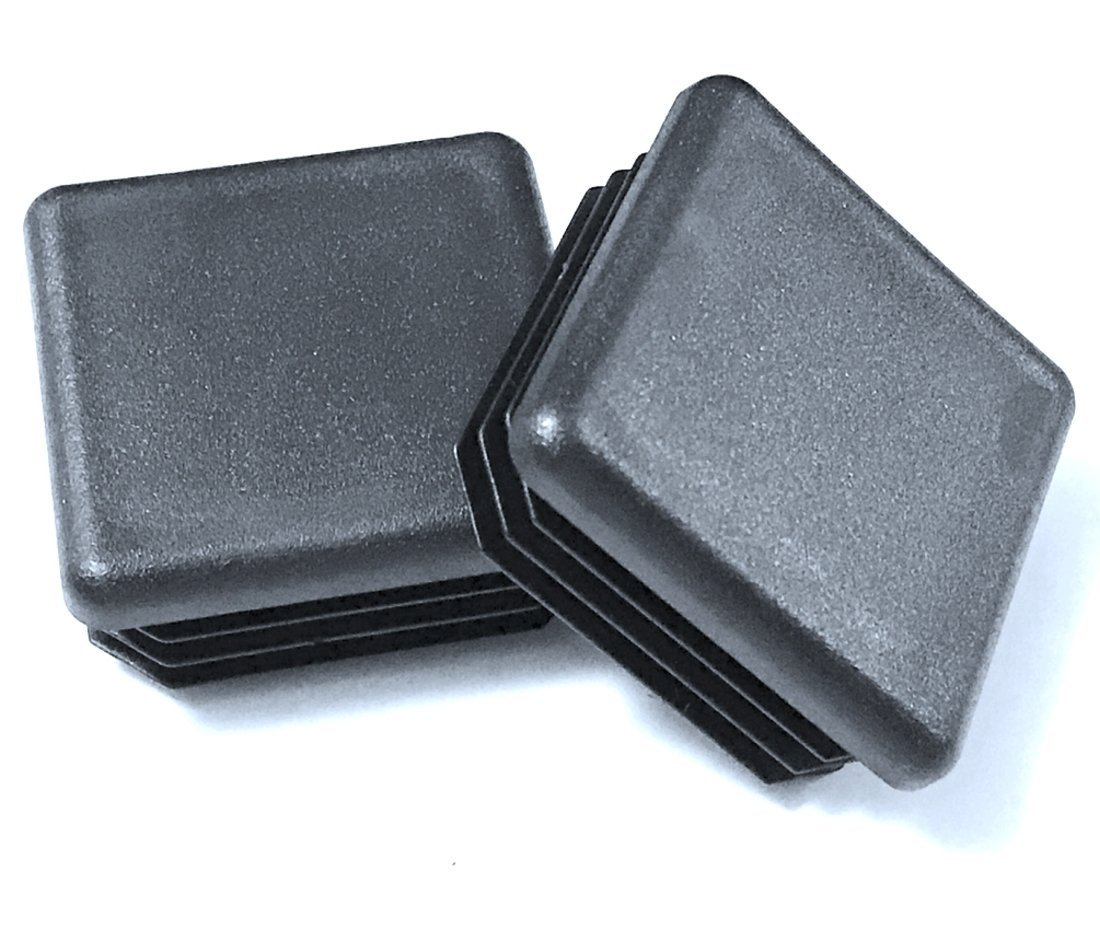 (Pack of 25) 2'' Square (14 - 20 Ga ) Black Plastic Tubing Plug, 2 Inch End Cap 2''x2'' (for 1.85'' to 1.92'' ID)- Steel Fence Post Pipe Tube Cover Insert | - End Caps for Fitness Equipment by SBD Ltd.