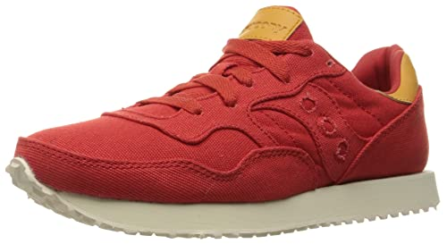 red saucony shoes