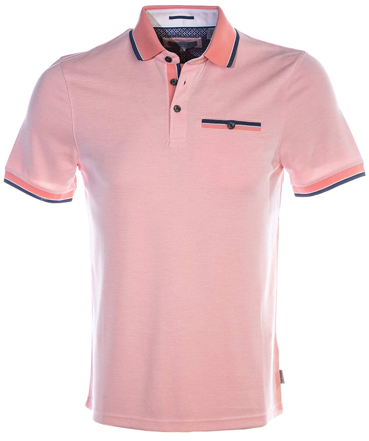 4762c63cd Coral Ted Baker Habtat SS Soft Touch Polo Shirt Coral Coral Coral Pink  facc3f