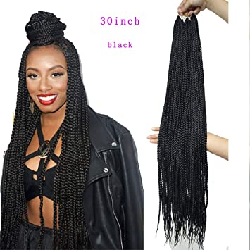 Amazoncom Eunice 6packs Medium Box Braids Crochet Hair 30inch