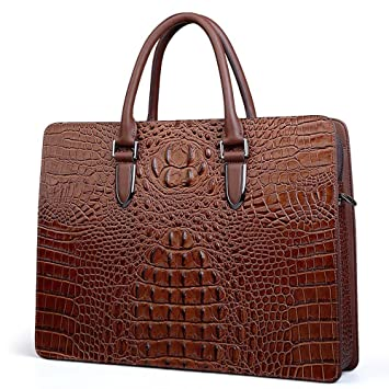 234ba5630b COWOCC Sacs business Sac Serviette Crocodile Motif Vraiment En Cuir De Luxe  Design Porte-Monnaie