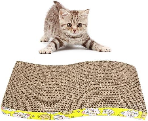 YWRD Cosas para Gatos Rascador para Gatos Curva Gato rascadores ...