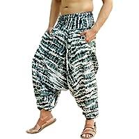 d70c132edbbf3 Sarjana Handicrafts Mens Womens Rayon Tie Dyed Harem Pants Yoga Drop Crotch  Trouser