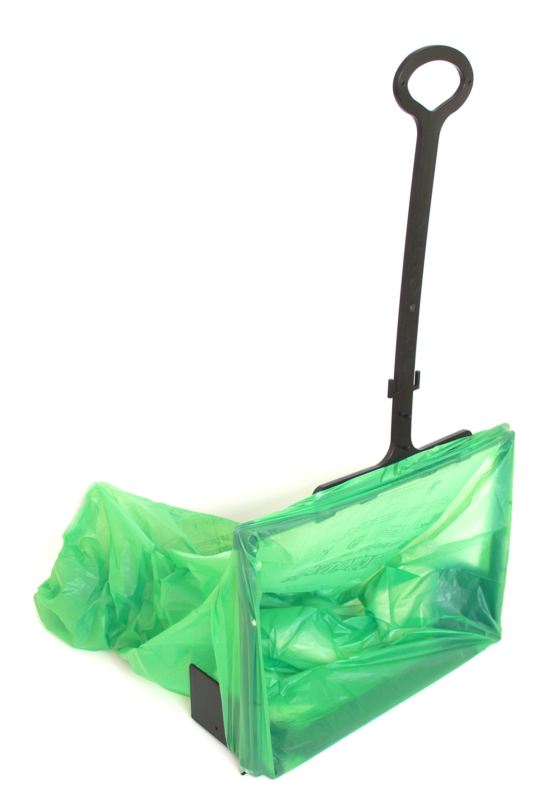 WideOpen's Big-Bagger let's you Rake, Sweep, Shovel, and more into an Open Plastic Trash Bag for Easy Cleanup
